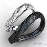 テクスチャーを入れた結婚指輪