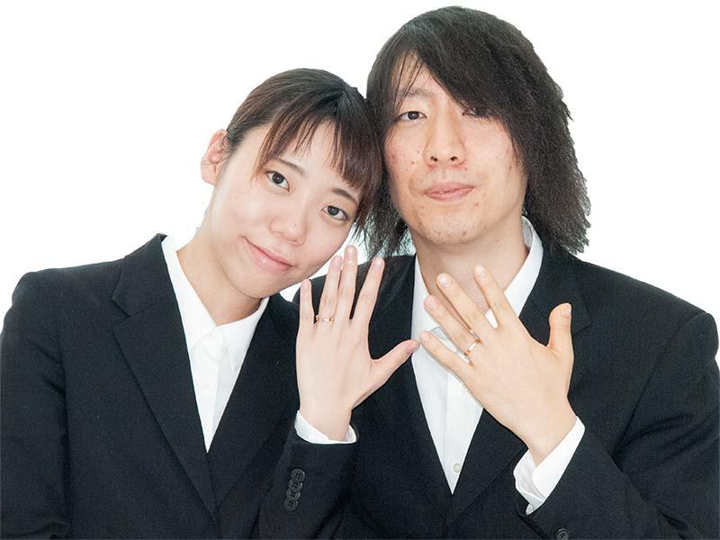 結婚指輪をオーダー頂きました幸せカップル様