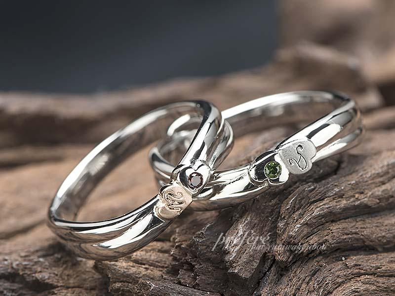 四つ葉クローバー 結婚指輪オーダーメイド