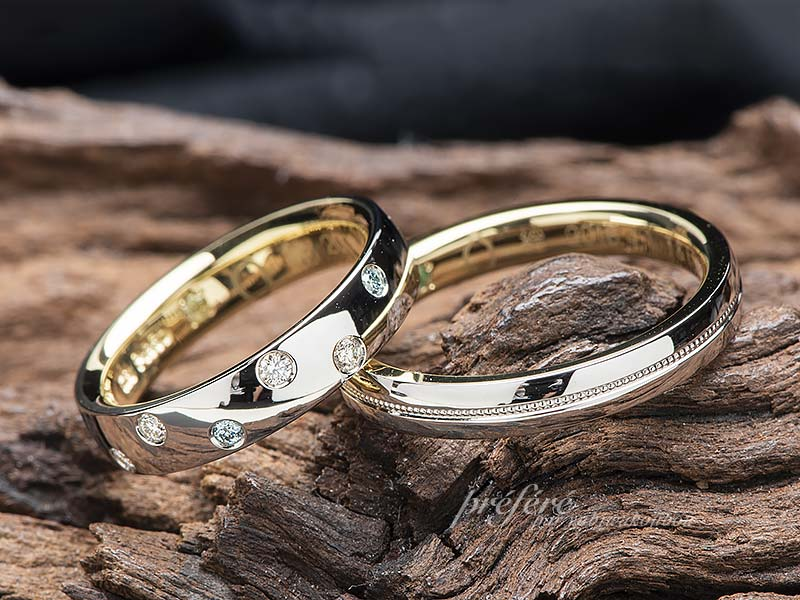 二人の希望を叶えるセミオーダーの結婚指輪