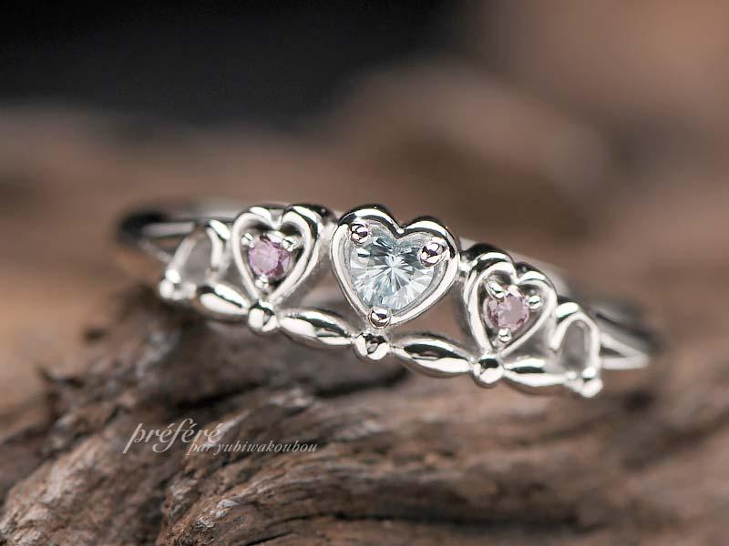 ティアラリング 結婚10周年指輪