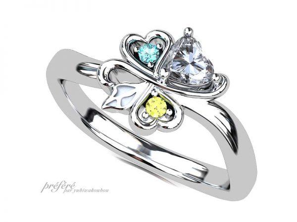ハート婚約指輪