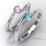 ハートダイヤをいれたオーダーメイド結婚指輪