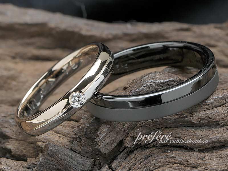 結婚指輪のオーダーはブラックリングとコンビリング