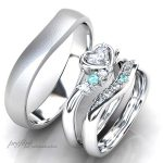 ハートダイヤの婚約指輪と結婚指輪のセットリングはオーダー