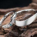 ブルーダイヤをいれた結婚指輪はオーダーメイド