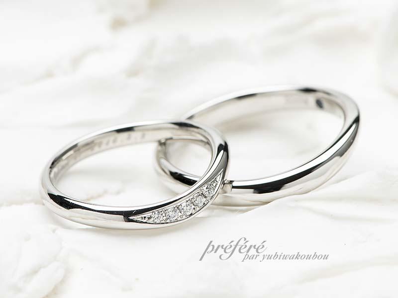 婚約指輪とセットで着ける結婚指輪はセミオーダー