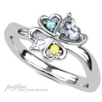 ハートダイヤで四つ葉の婚約指輪はオーダー