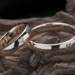 ハートダイヤを入れたピンクゴールドの結婚指輪はオーダーメイド