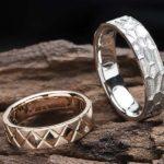 和柄の鱗をモチーフにしたペアのオリジナル結婚指輪はフルオーダー