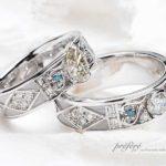 お客様のダイヤを使ったオリジナル結婚指輪はオーダーメイド