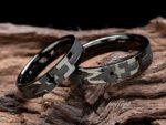 イニシャルのオリジナル結婚指輪をブラックリングでフルオーダー