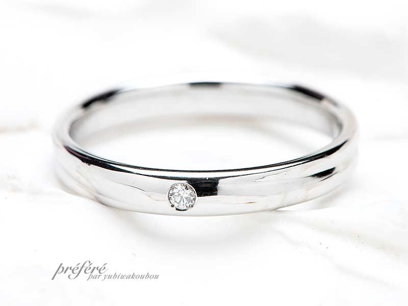 神奈川のお客様は紛失した結婚指輪をオーダーメイド