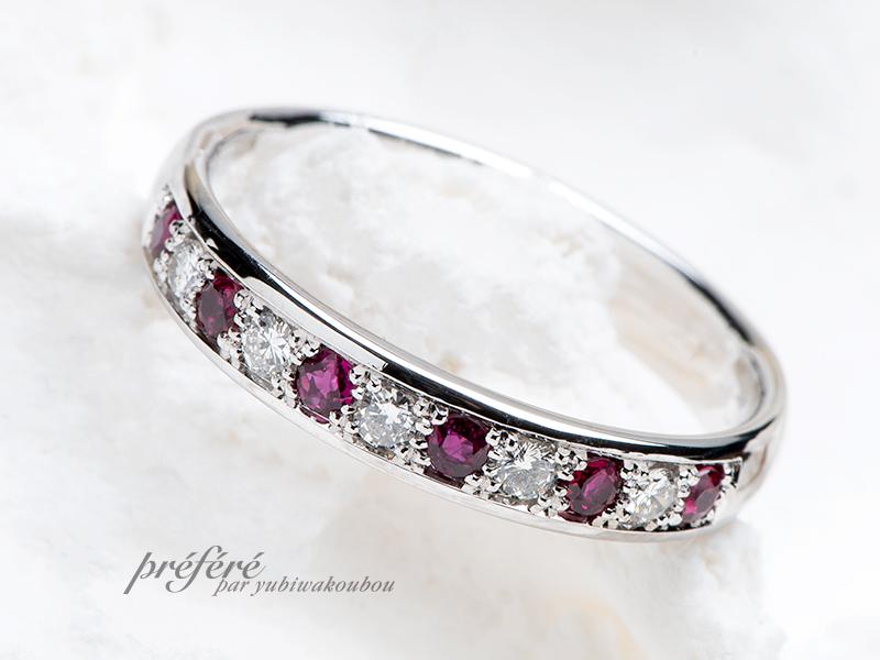 結婚30周年に石が取れそうだったティファニーのリングをリメイク