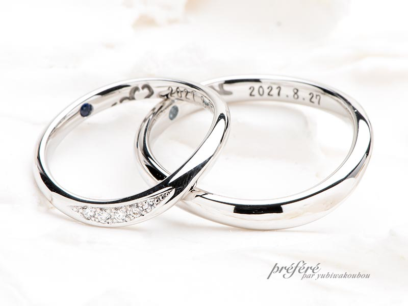 シンプルなデザインのセミオーダー結婚指輪